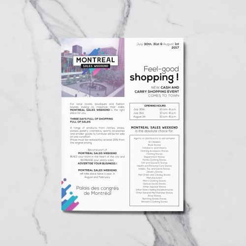 Flyer A5 Montreal Sales Weekend